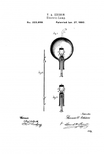 incandescent light bulb patent